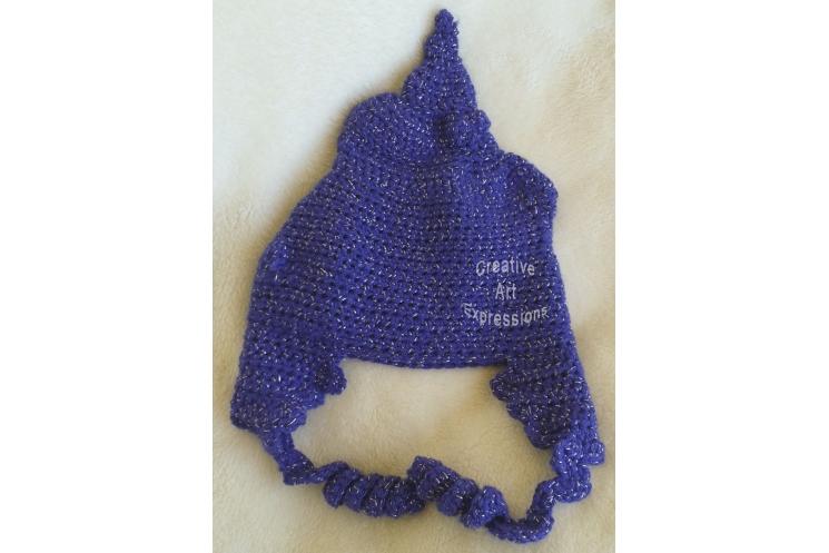 Purple Sparkle Poop Hat Adult Teen