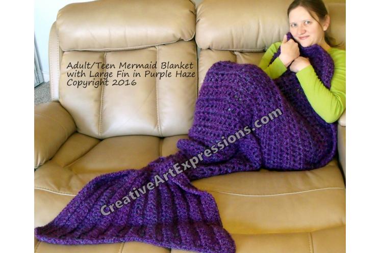 Mermaid Blanket in Purple Haze