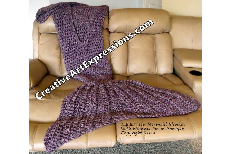 Back of Mermaid Blanket in Baroque