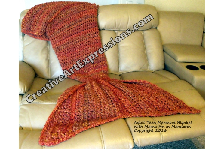 Mermaid Blanket in Mandarin