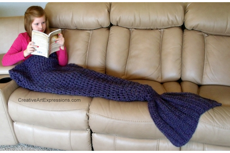 Hand Crocheted Made To Order Chile Mermaid Blanket