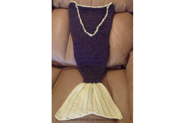 Back of mermaid blanket