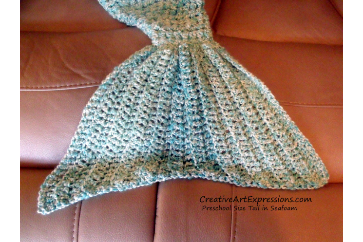 Crocheted Made To Order Preschool Mermaid Blanket