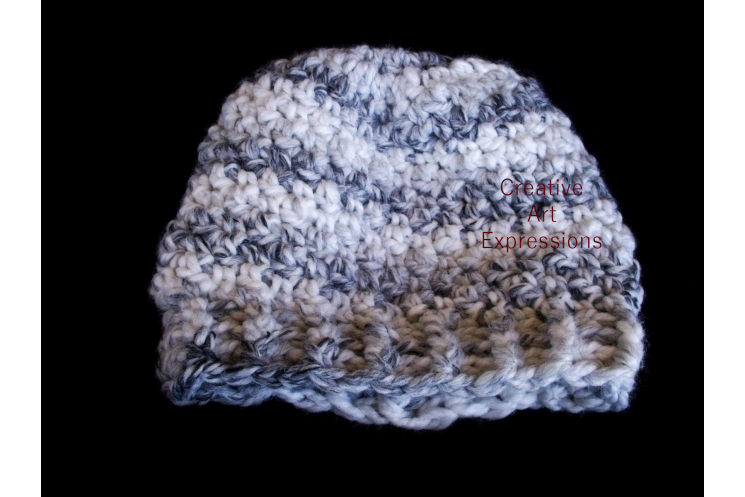 Black & White Chunky Slouchy Hat