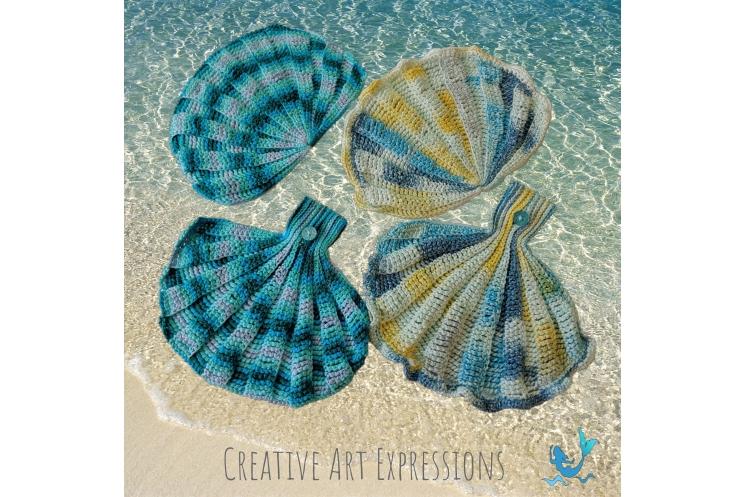 Seashell Towels in Aqua Ombre & Paris in June
