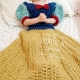 Fair Princess Dress Blanket in Golden Thick Soft Yarn