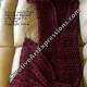 Back of Mermaid Blanket with Large Fin in Claret