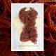 Hand Knitted Cinnamon Ruffle Scarf