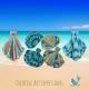 Seashell Hand Towels in Brights, Aqua Ombre, Paris in June & Aqua Ombre