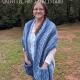 Sea Breeze Pocket Shawl in True Blue Adult Long