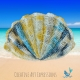Seashell Hand Towel Crocheted in Paris in June