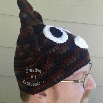 Shades of Brown Large Adult Poop Emoji Hat