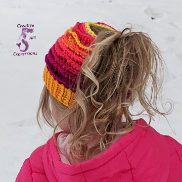 Sunset Sea Messy Bun Sea Breeze Hat