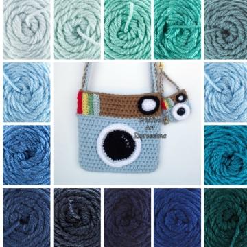 Blue Vintage Camera Purse