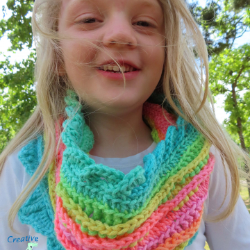 Sea Breeze Infinity Scarf in Coral Reef Youth 6-10 yrs