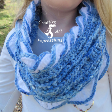 Sea Breeze Youth 6-10 Infinity Scarf in Lapis