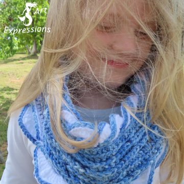 Sea Breeze Infinity Scarf in Sapphire Sea Youth 6-10 yrs