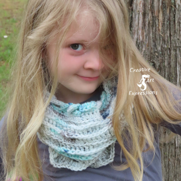 Sea Breeze Infinity Scarf Child 2-5 yrs in Sea Foam Whispers