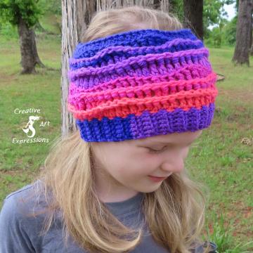 Sea Breeze Headband in Flamingo Bay Child 2-5 yrs