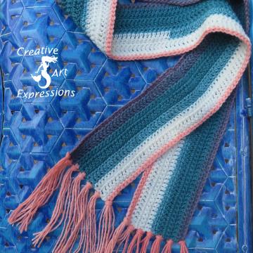 Beginner Crochet Scarf in Pegasus