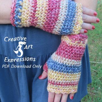 Beginner Fingerless Gloves in Brighton Road