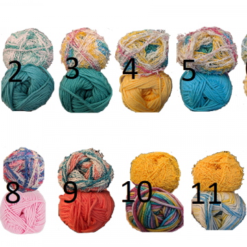 Crocheted Seashell Scrubby Cotton & Scrubby Yarn Color Choices