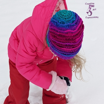 Crocheted Ocean Deep Slouchy Sea Breeze Hat, Child Size 2T-5 years, Sea Breeze Collection, Mermaid Fashion, Unique Gifts, Handmade winter hat,  Mermaid at Heart, Ocean Crochet, Coastal Crochet, Crochet with Meaning