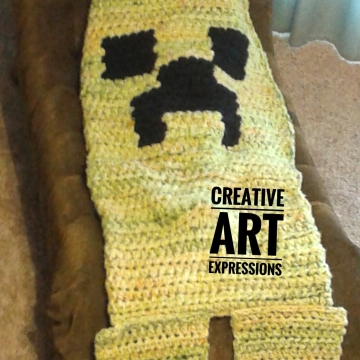 MOB Gamer Blanket, Child Blanket Thick, Crocheted MOB Blanket, Yellow, Lime Green, Orange Gamer Blanket, Ready To Ship, Luxuriously Soft