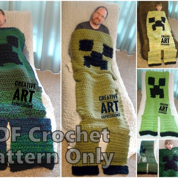 MOB Gamer Blanket Crochet Pattern, Adult, Teen, Child, Toddler, 12-24 month, Video Tutorials
