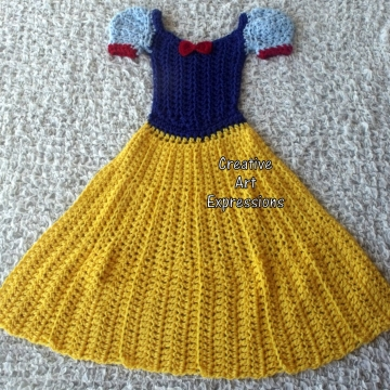 Fair Princess Dress Blanket, Crocheted, Made to Order, Yellow, Blue, Red, Adult teen, Child, Toddler,, Wearable Blanket, Women Gifts, Girl Gifts, Unique Gifts,