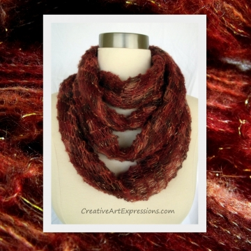 Creative Art Expressions  Autumn Leaves Scarf