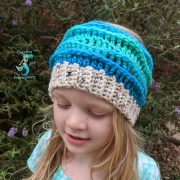 Sea Breeze Ear Warmer Pattern Collection, PDF Downloadable Pattern, Video Tutorials, Crochet Pattern, Mermaid Crochet, Ocean Crochet, Head Band, 3 sizes