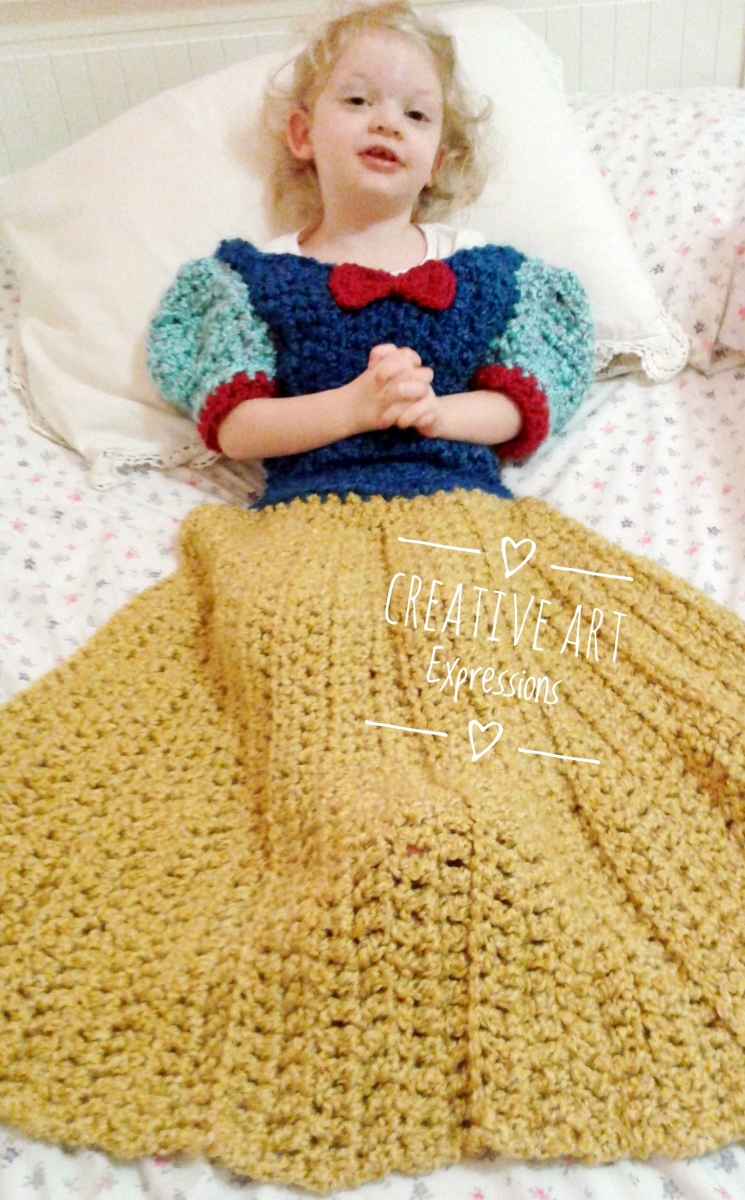 Fair Princess Dress Blanket Royal Toddler