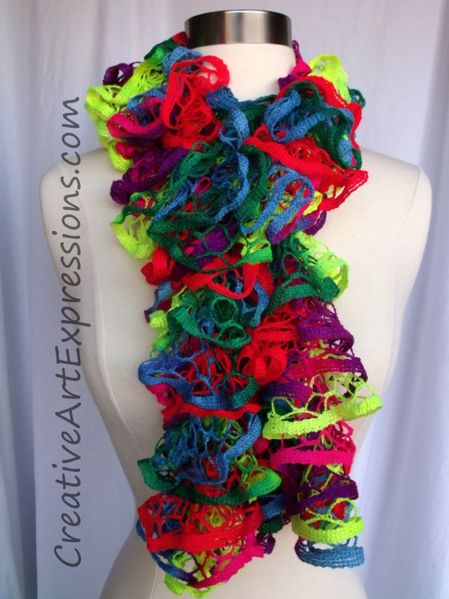 creative expressions knit toucan neon ruffle
