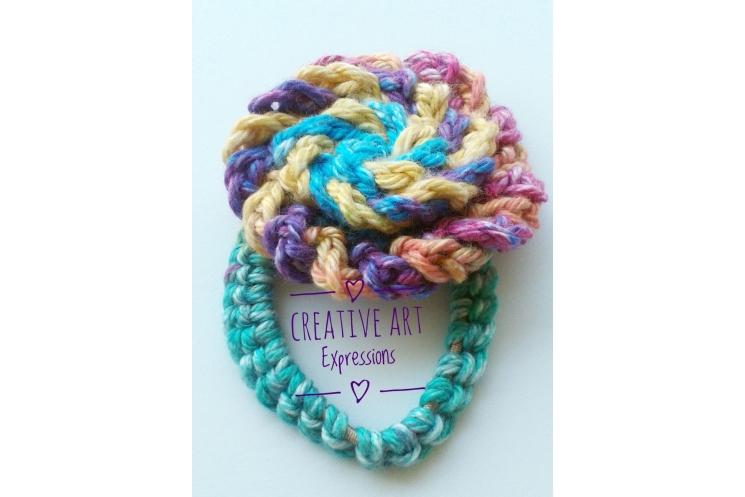 Crocheted Rose Napkin Ring