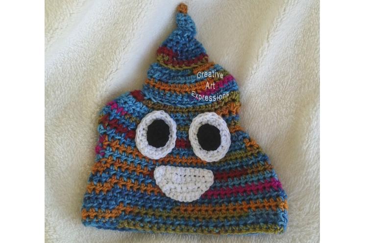 Bright Unicorn Poop Emoji Hat
