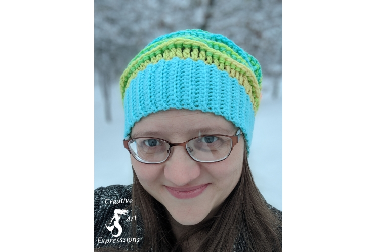 Coral Reef Slouchy Sea Breeze Hat