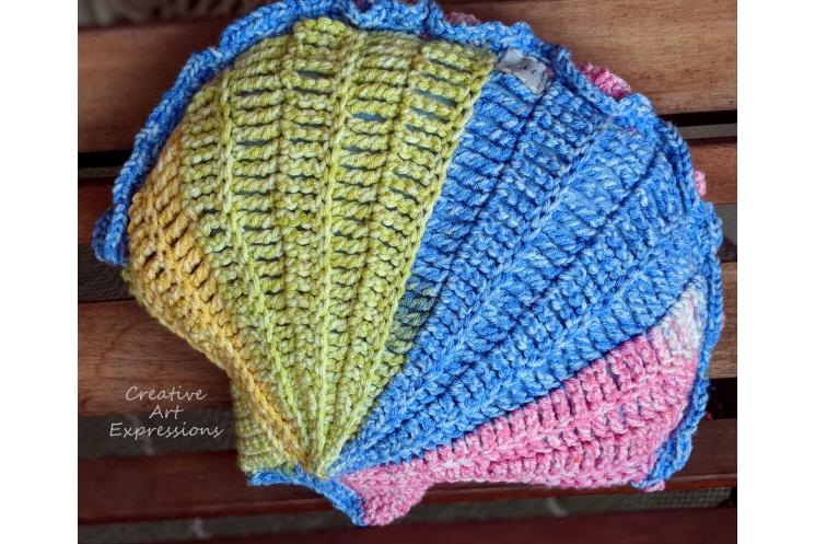 Small Rainbow Seashell Pillow