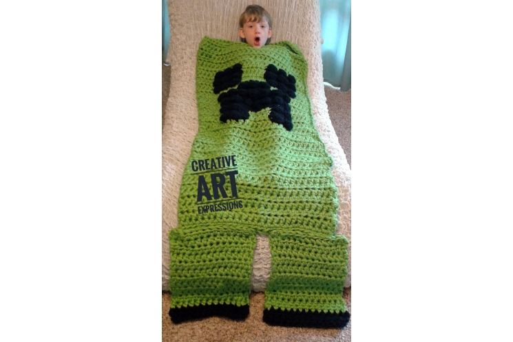 MOB Gamer Blanket PDF Pattern