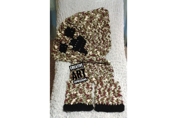 MOB Gamer Sleeper Blanket Crocheted MOB Camo Blanket