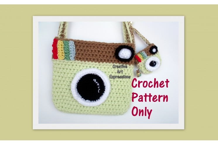 Camera Purse & Miniature Camera Purse Crochet Pattern