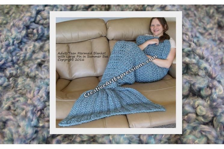 Mermaid Blanket in Summer Bay