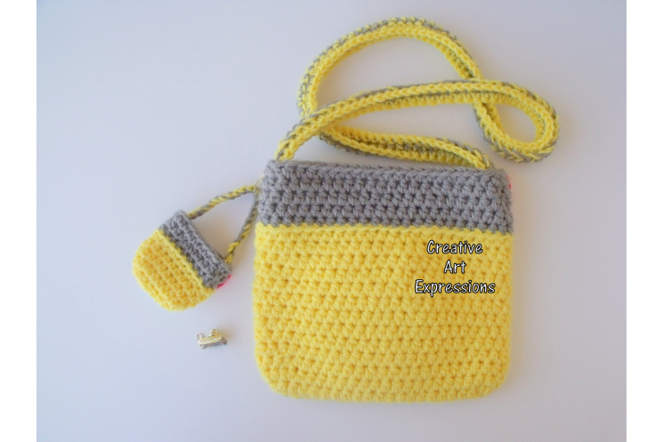 Back of Yellow Camera Purse