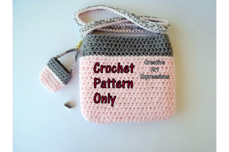 Back of Camera Purse & Miniature Camera Purse Crochet Pattern