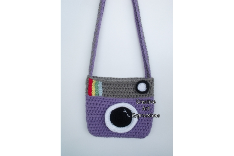 Purple & Gray Camera Purse