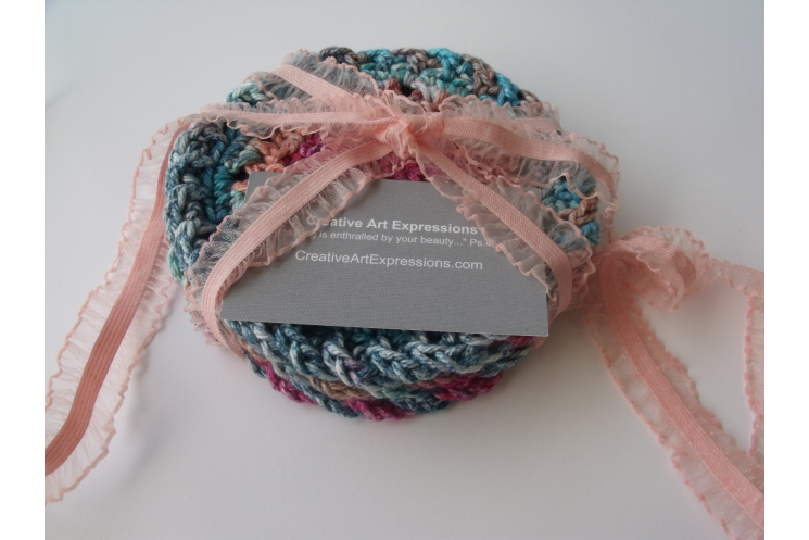 Bright Pink, Coral, Teal, Orange, Blue Cotton Coasters