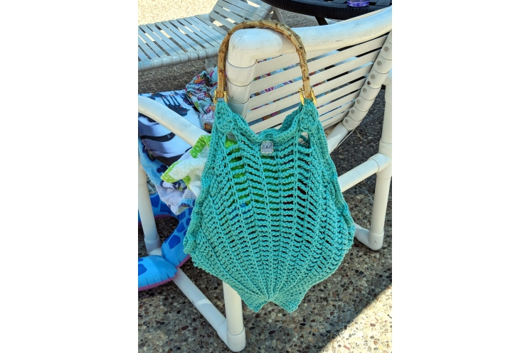 Seashell Beach Bag in Use