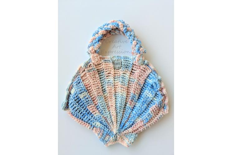 Pink & Blue Small Seashell Purse