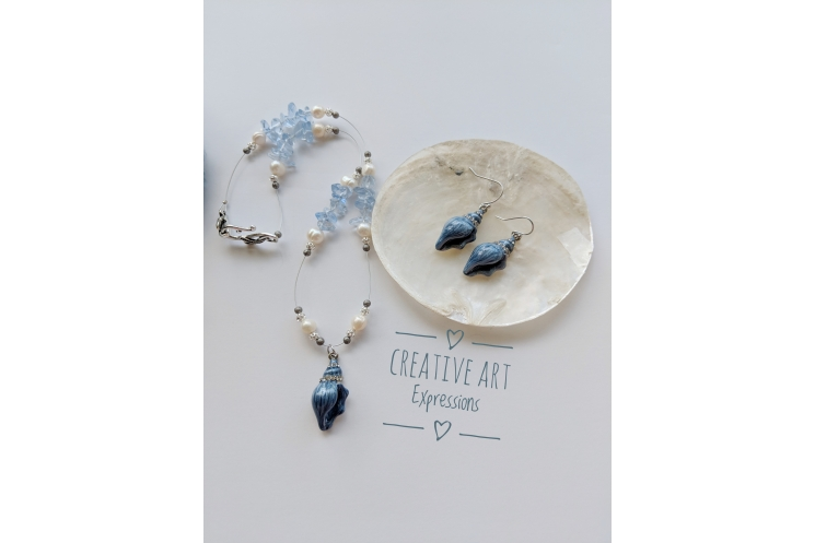 Something Blue Necklace & Earring Set