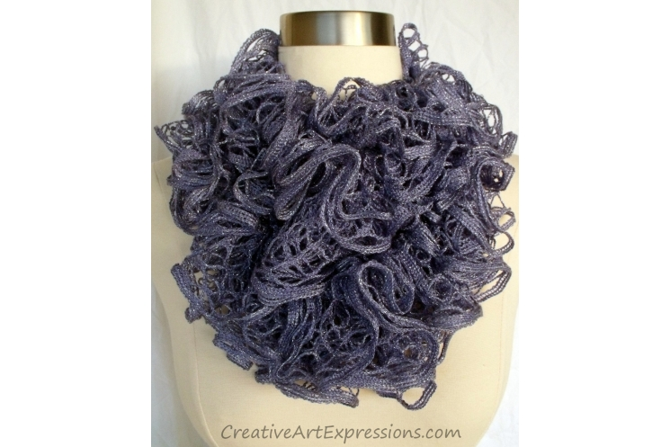 Hands Knitting Drawing : Creative art expressions hand knitted periwinkle ruffle